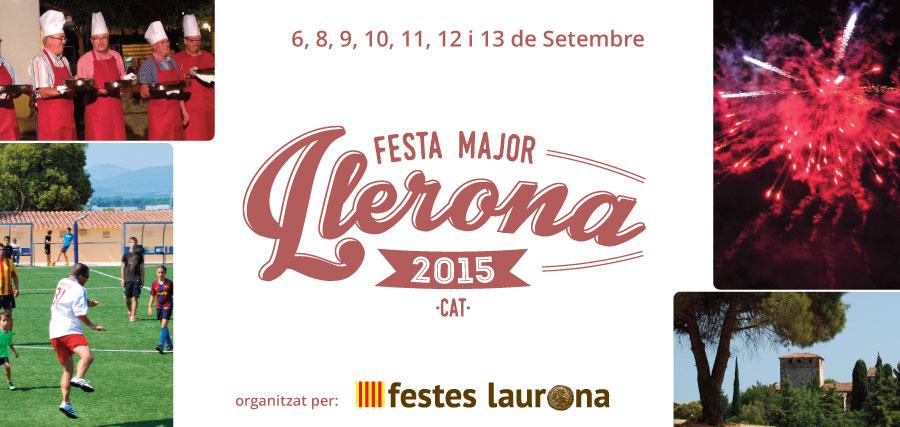 Portada Programa Festa Major Llerona 2015